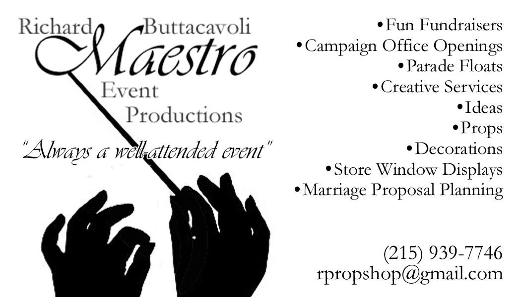 MaestroEventProductionsBusinessCard